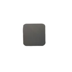 Sottobicchiere quadrato in pelle rigenerata grigia cm 10