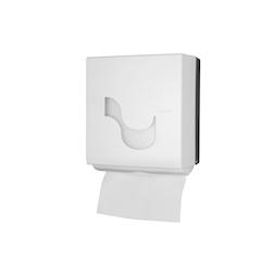 Dispenser asciugamani Omnia Labor megamini in plastica bianca e grigia