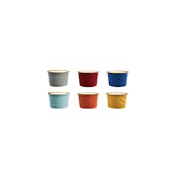 Coppetta gelato Mediterraneo in ceramica colorata cm 7,5