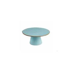 Alzata per dolci Mediterraneo in ceramica turchese cm 25x11,5