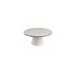 Alzata per dolci Mediterraneo in ceramica bianca cm 25x11,5