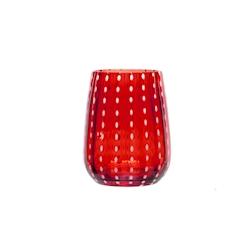 Bicchiere Perlage in vetro soffiato rosso cl 36