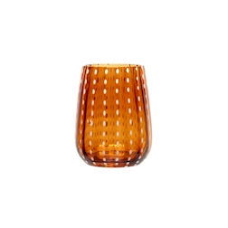Bicchiere Perlage in vetro soffiato ambra cl 36