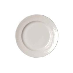 Piatto piano Spyro Distinction Steelite in ceramica vetrificata bianca cm 28