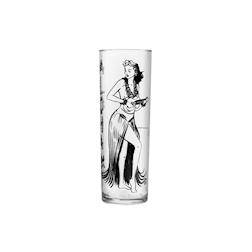 Bicchiere Kahiko Zombie in vetro con decoro nero cl 39,9