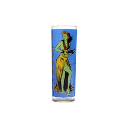 Bicchiere Kahiko Zombie in vetro con decoro multicolore cl 39,9