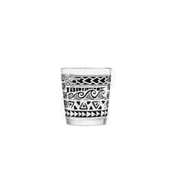 Bicchiere Kahiko Mai Tai in vetro con decoro nero cl 35,5
