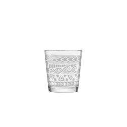 Bicchiere Kahiko Mai Tai in vetro con decoro bianco cl 35,5