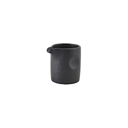 Mini lattiera e salsiera in stoneware nero cl 9