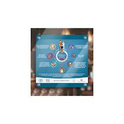 Pannello informativo 'Norme Igieniche' con ventose in pvc cm 49x49