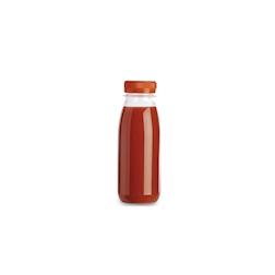 Bottiglia Servipack in pet trasparente con tappo arancione cl 25