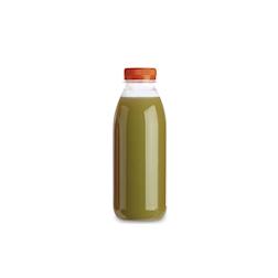 Bottiglia Servipack in pet trasparente con tappo arancione cl 33
