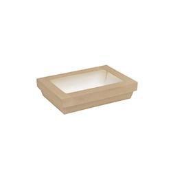Contenitore con coperchio e finestra in carta e pla cm 22,5x15,5x5