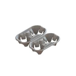 Contenitore asporto 4 tazze divisibile in carta cm 21x21x4