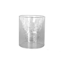 Bicchiere teschio Calavera in vetro trasparente cl 24