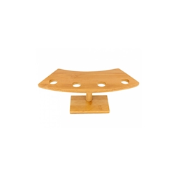 Porta coni 4 posti in bamboo cm 26x10,5x9