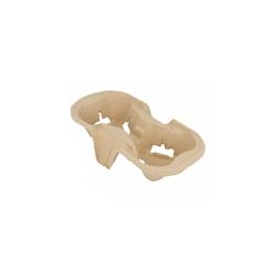 Contenitore asporto 2 tazze in cartone naturale cm 21x10,5