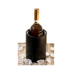 Glacette termica per una bottiglia in plastica nera