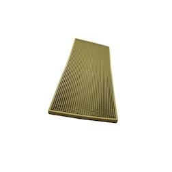 Bar mat in gomma oro con griglia in acciaio cm 60x20