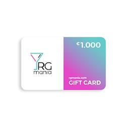 Gift Card carta regalo RGmania 1000 Euro