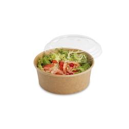 Contenitore Tusipack Salad Rond in carta marrone cm 15x6