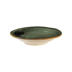Piatto fondo Mediterraneo in ceramica verde cm 24