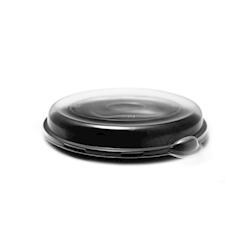 Piatto ovale nero con coperchio frost in polipropilene cm 25,5x19