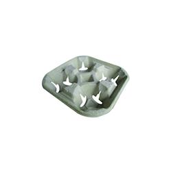 Contenitore asporto per 4 tazze in carta cm 21,5x21,5x4,5