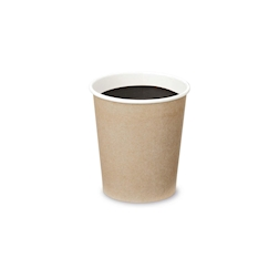 Bicchiere caffè in carta kraft cl 10