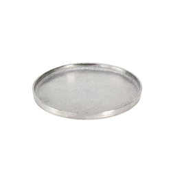 Vassoio tondo Large in alluminio silver cm 38,5