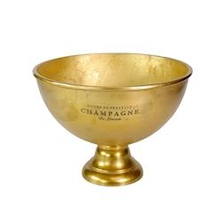 Spumantiera con scritte in alluminio gold cm 46x33