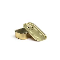 Scatoletta rettangolare in alluminio con coperchio oro cm 11x6,5