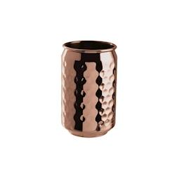 Bicchiere lattina in acciaio inox martellato color rame cl 49