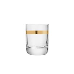 Bicchiere rocks Envy Libbey con rigo d'oro in vetro cl 32