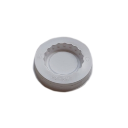 Coperchio in plastica bianca cm 6