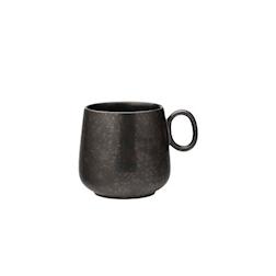Tazza mug con manico in porcellana nera cl 34