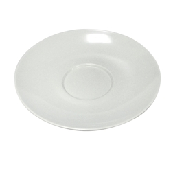 Piatto per tazzone Supercup in melamina bianca