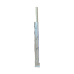 Cannucce biodegradabili mono imbustate in carta avana cm 20x0,6