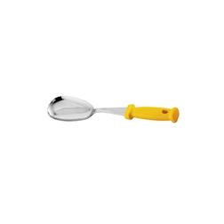 Cucchiaio per pizza in acciaio inox con manico in polipropilene giallo