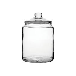 Barattolo jar con coperchio in vetro lt 6,2