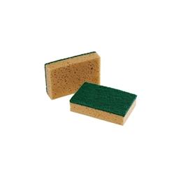 Spugna in fibre sintetiche color tabacco cm 9x14x3,4