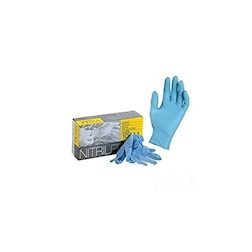 Guanti Monouso Nitril Pro Blu Con Polvere Taglia L
