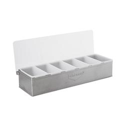 Porta condimenti acciaio Sambonet Paderno 47x16cm 6 contenitori
