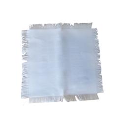 Frangino in cotone bianco cm 32x32