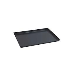 Teglia rettangolare per pizza in ferro blu cm 40x30