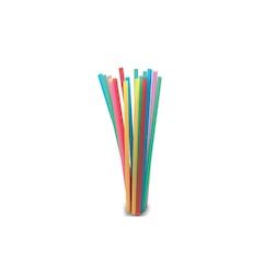 Cannuccia drinking straw in plastica colori assortiti cm 21