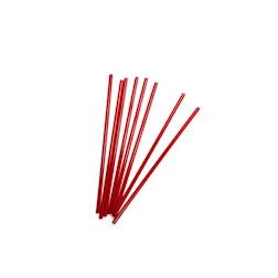 Cannuccia drinking straw plastica cm 13,5 rosso