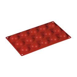 Flexipad semisfere 15 impronte in silicone marrone cm 30x17,5