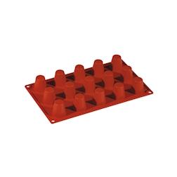 Flexipad babà piccoli 15 impronte in silicone marrone cm 30x17,5
