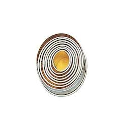 Set 9 tagliapasta ovali lisci in acciaio inox